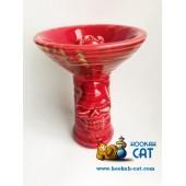 Чаша Vintage Alien Glaze Skull Red (Винтаж Алиен Глейз Череп Красный)