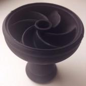 Чаша силиконовая секционная (Черная)