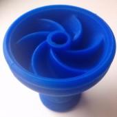 Чаша силиконовая секционная (Синяя)