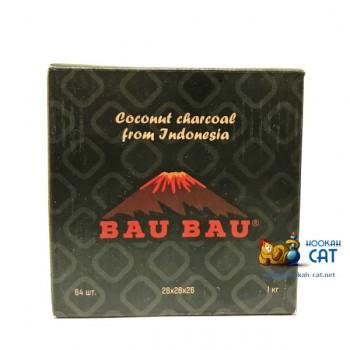 Натуральный кокосовый уголь для кальяна Bau Bau (Бау Бау) 64 шт. (26мм, 1кг)