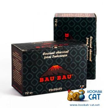 Натуральный кокосовый уголь для кальяна Bau Bau (Бау Бау) 72 шт. (25мм, 1кг)