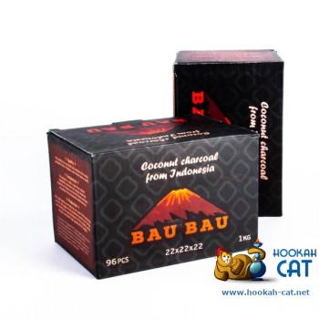 Натуральный кокосовый уголь для кальяна Bau Bau (Бау Бау) 96 шт. (22мм, 1кг)