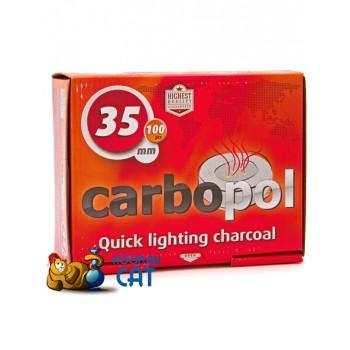 Саморазжигающийся уголь для кальяна Carbopol 10 шт. (35мм)