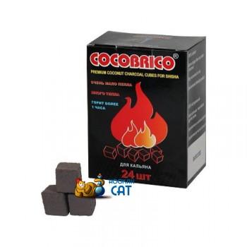 Уголь для кальяна Cocobrico (Кокобрико) 24 шт. (22мм, 250г)