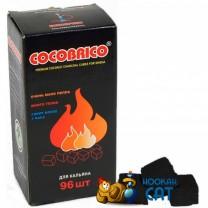 Уголь для кальяна Cocobrico (Кокобрико) 96 шт. (22 мм, 1кг)