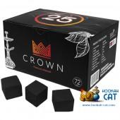 Уголь для кальяна Crown (Краун) 72 шт. (25мм, 1кг)