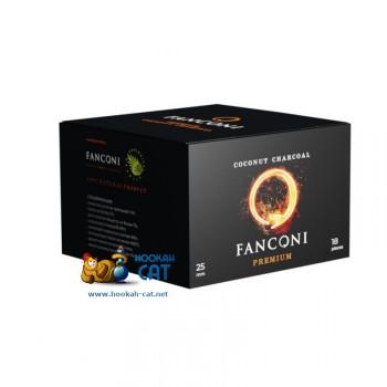 Уголь для кальяна премиального качества Fanconi (Фанкони) 18 шт. (25мм, 250г)