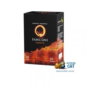 Уголь для кальяна премиального качества Fanconi (Фанкони) 24 шт. (22мм, 250г)