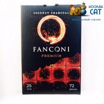 Уголь для кальяна Fanconi (Фанкони) 25мм 72 шт. (1 КГ)