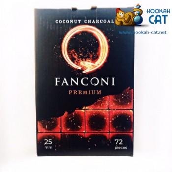 Уголь для кальяна премиального качества Fanconi (Фанкони) 72 шт. (25мм, 1кг)