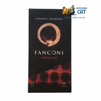 Уголь для кальяна премиального качества Fanconi (Фанкони) 96 шт. (22мм, 1кг)