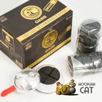Уголь для кальяна Oasis Kaloud (Оазис Калауд) 120 шт. (1,6кг) купить в Москве быстро и недорого