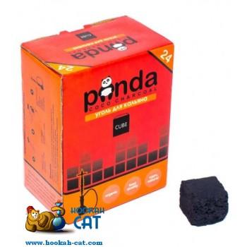 Кокосовый уголь для кальяна Panda Cube (Панда Красный) 24 шт. (22мм, 250г)