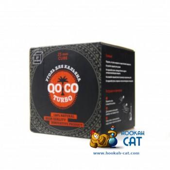 Уголь для кальяна Qoco Turbo (Коко Турбо) 27 шт. (25мм, 400г)