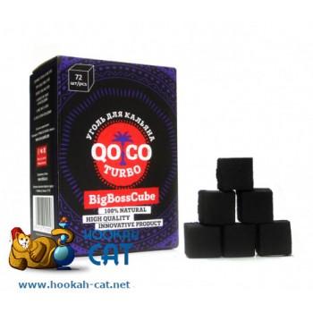 Уголь для кальяна Qoco Turbo (Коко Турбо) 72 шт. (25мм, 1кг)