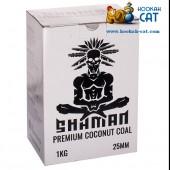 Уголь для кальяна Shaman (Шаман) 72 шт. (25мм, 1кг)