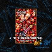 Табак Cobra Select Strawberry Champagne (Клубничное Шампанское) 40г Акцизный