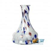 Колба для кальяна Hype Bell White Blue Mg Crumb (Бело Синяя Марганцевая Крошка)