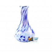 Колба для кальяна Hype Drops White Blue Mg Crumb (Хайп Капля Бело Синяя Марганцевая Крошка)