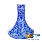 Колба для кальяна Hype Goose High Quality White Alebastr Blue (Белый Алебастр Синяя Крошка)