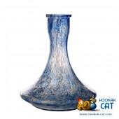 Колба для кальяна Hype Sandpiper High Quality White Alebastr Blue (Белый Алебастр Синяя Крошка)