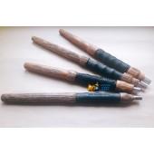 Мундштук GRYN деревянный с кожаной ручкой