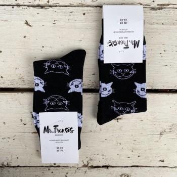 Носки женские Коты черные - купить в Москве с доставкой по России